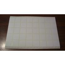 Etiqueta Adhesiva Laser Blanco 25x25 Mm