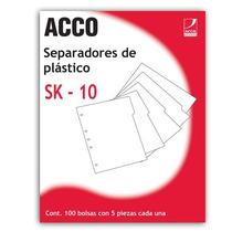 Separador Sk-10 De 5 Div. 1 Pieza Aco-sep-p0560 Upc: 750135