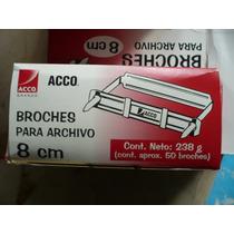 Caja Con 50 Broches Para Archivo Acco De 8 Cm