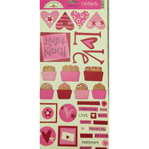 Scrapbook Etiquetas, Stickers, Embellishments