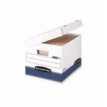Caja Carton Blanca Fellowes Bankers Box Oficio C/20