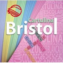 50 Pliegos D Cartulina Bristol 200gr Canario Azul Rosa Verde