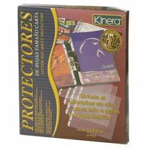 Protector Hojas Tam Carta Opaco, Perforado, Caja 50 Azo-prh-