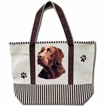 Bolsa De Manta Labrador Chocolate - Hermosa Tote Bag!