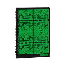 Libreta Cuderno Grande Papel Picado Verde Mexico En Papel