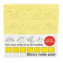 Publicar Nota - 1 Origami Amarillo Sticky Bloc De Notas 10 D