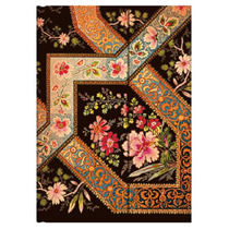 Libreta Midi Filigree Floral Ebony Rayas Paperblanks