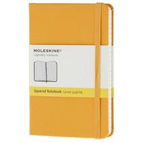 Libreta Naranja Bolsillo Cuadros Moleskine Cuaderno