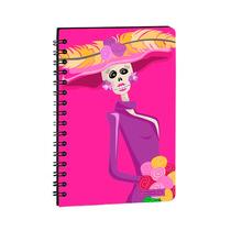 Libreta Cuderno Chica C/suave Catrina Mexico En Papel