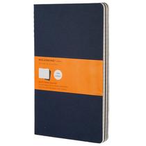 Libreta Grande Azul Rayas Moleskine Cuaderno