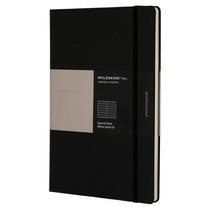Libreta A4 Negra Cuadros Pasta Dura Moleskine Cuaderno