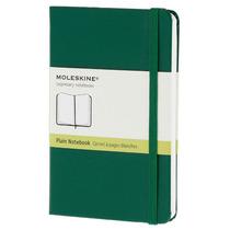 Libreta Verde Bolsillo Pasta Dura Blanco Moleskine Cuaderno