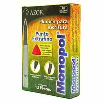 Plumon Permanente Monopol Punto Extra Negro 0.2mm Azo-mar-38