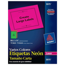 Carta Láser 21, 6x27, 9cm 15 Etiquetas Car Ave-eti-5975 Upc: