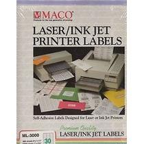 Etiquetas Para Laser + Inkjet + Copiadora Maco Ml-8100 Op4
