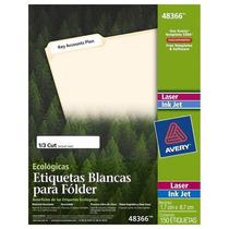 Etiqueta Blanca Etiqueta Láser-/ink Jet Ecológica, Permanent