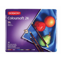 Estuche De Colores Derwent Coloursoft Con 24 Lapices