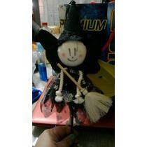 Halloween, Pluma De Bruja Tinta Y Vestido Negro Nueva Vbf