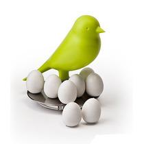 Imanes De Huevos Con Gorrión Verde Amarillo Decorativos