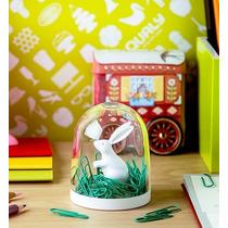 Recipiente De Conejo Con Clips Verdes Para Oficina Nuevo