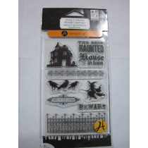 Stamp & Stencil Halloween Sc0661 9 Pzs Hampton Art Scrap