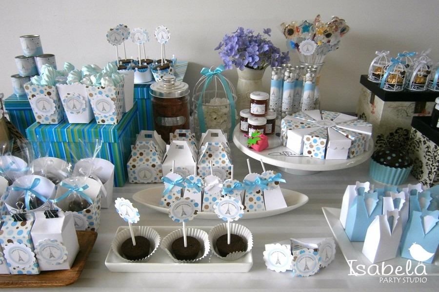Paquete cajitas mesa de dulces bautizos baby shower - Hacer mesa dulce bautizo ...