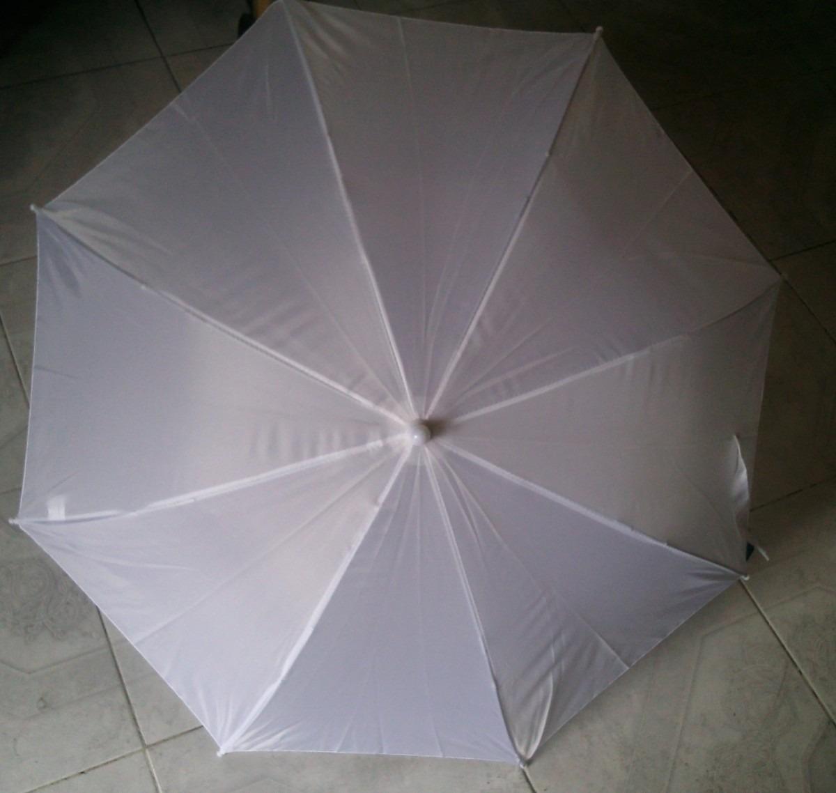 Paraguas sombrillas de tela infantil color blanco - Tela de paraguas ...