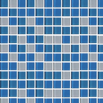 Mallas Decorativas Cristal Azul Blanco Azulejo Veneciano 4mm