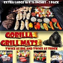 Mejor Valorados Gorila Parrilla Mats Enorme 16x26 De Tamaño