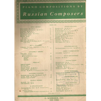 Antiguas Partituras Piano Russian Composers Schirmer 1907