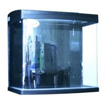 Kit De Acuario Rectangular Filtro Post Negro 66 L C/gabinete