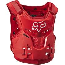 Peto Protector Fox Pro Frame Rojo Niño Talla 6-11