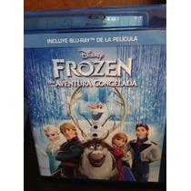 Frozen Disney Película Una Aventura Congelada Blu Ray
