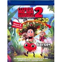 Lluvia De Hamburguesas 2 Dos. Pelicula En 3d + Blu-ray + Dvd