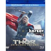 Thor 2 Dos . Un Mundo Oscuro Combo Pelicula Blu-ray + Dvd