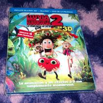 Lluvia De Hamburguesas 2 En 3d - Bluray 3d + 2d + Dvd C/slip