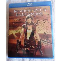 Resident Evil: 3, Tres. La Extincion. Película En Blu-ray