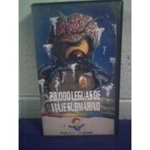 Vhs Película 20 Mil Leguas De Viaje Submarino Caricaturas