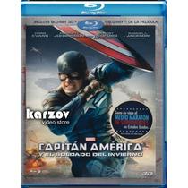 Capitan America El Soldado Del Invierno Pelicula 3d Blu-ray
