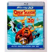 Open Season Amigos Salvajes , Pelicula En Blu-ray 3d