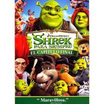 Shrek 4 Para Siempre , La Pelicula Animada , Disco En Dvd