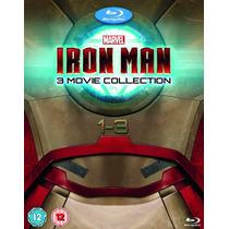 Iron Man , La Coleccion Completa De Peliculas Discos Blu-ray