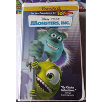 Monsters Inc Vhs 1a Edicion Box Long Hablada En Español