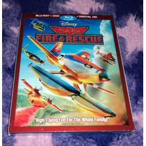 Aviones 2 Equipo De Rescate - Bluray + Dvd Importado Planes