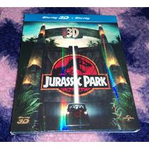 Jurassic Park 3d - Bluray 3d + 2d Importado C/ Slipcover