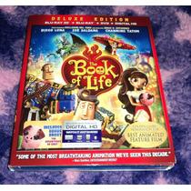 El Libro De La Vida 3d - Bluray 3d + Dvd Importado C/ Slip