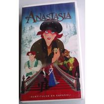 Anastasia Vhs Subtitulos Al Español 1998 Estuche Blanco Bvf