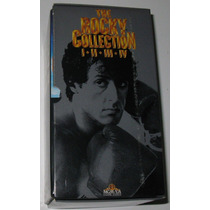 The Rocky Collection Box Set I,ii,iii Y Iv 4 Vhs Importados