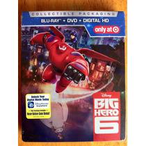 Disney Big Hero 6 Blu Ray Dvd Steelbook Target Exclusivo