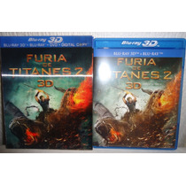 Furia De Titanes 2, Dos. Pelicula En 3d + Blu-ray +dvd + Dc